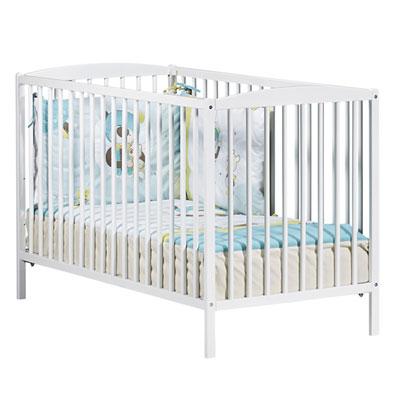 Lit bébé à barreaux 60x120cm teddy blanc Baby price