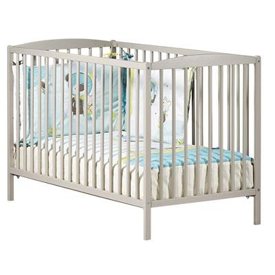Lit bébé à barreaux 60x120cm teddy taupe Baby price