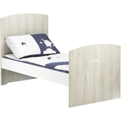 Lit bébé évolutif little big bed 70x140cm smile hêtre cendré Baby price