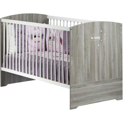 Lit bébé évolutif little big bed 70x140cm smile chêne silex Baby price