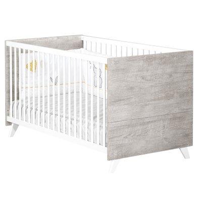 Lit bébé évolutif little big bed 70x140cm scandi gris Baby price