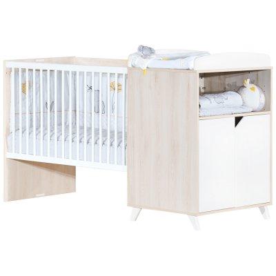 Lit combiné évolutif 60x120 en 90x190cm scandi naturel Baby price