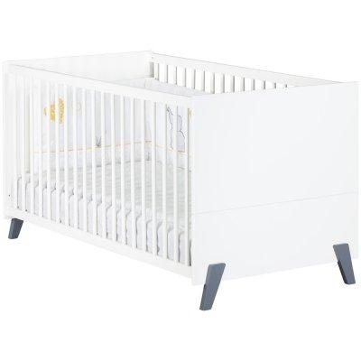 Lit bébé évolutif little big bed 70x140cm joy gris Baby price