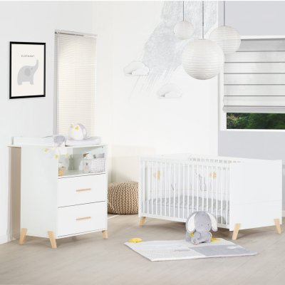 Lit bébé évolutif little big bed 70x140cm joy naturel Baby price