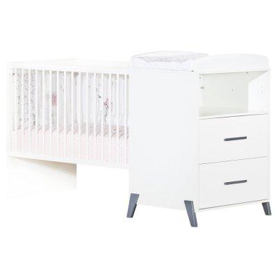 Lit combiné évolutif 60x120 en 90x190cm joy gris Baby price