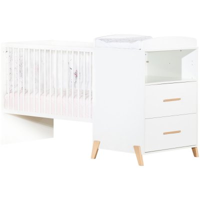 Lit combiné évolutif 60x120 en 90x190cm joy naturel Baby price