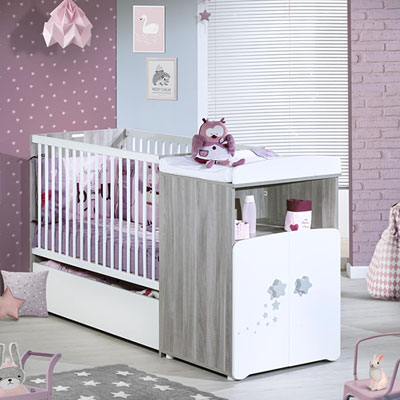 Lit bébé combiné évolutif 60x120cm en 90x190cm nao Baby price