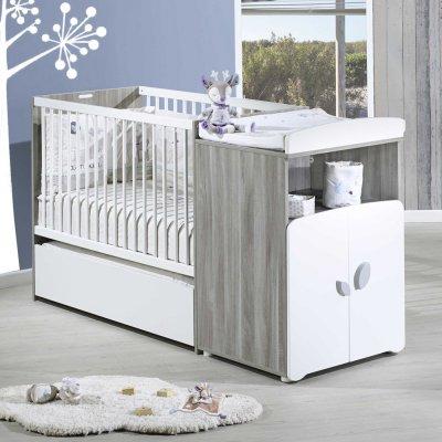 Lit bébé combiné évolutif 60x120cm en 90x190cm leaf Baby price