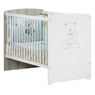 Chambre bébé duo teddy lit 60x120cm + commode Baby price
