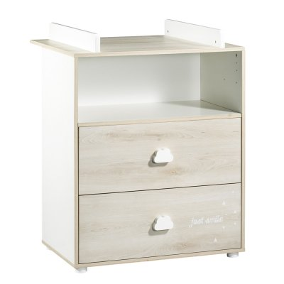 Commode bébé avec dispositif à langer smile hêtre cendré Baby price
