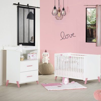 Commode avec dispositif à langer joy rose Baby price