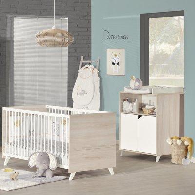 Commode bébé avec dispositif à langer scandi naturel Baby price