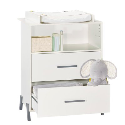 Commode avec dispositif à langer joy gris Baby price