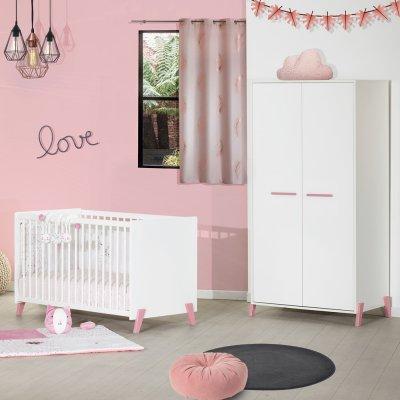 Armoire chambre bébé 2 portes joy rose Baby price