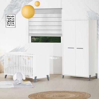 Armoire chambre bébé 2 portes joy gris Baby price