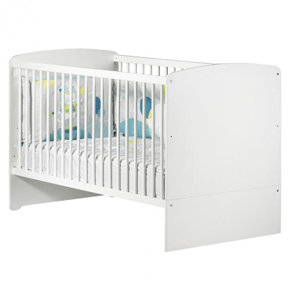 Lit bébé évolutif little big bed 70x140cm blanc