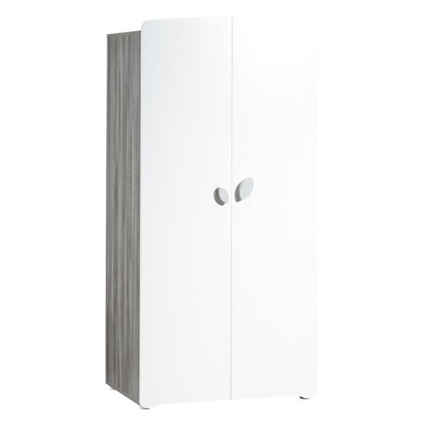 Armoire chambre b b 2 portes leaf 15 sur allob b for Armoire chambre soldes
