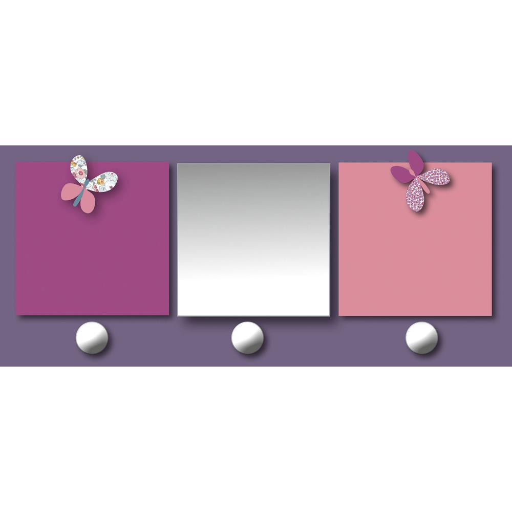 Pat re chambre b b avec miroir et porte photos prunelle for Miroir accroche porte