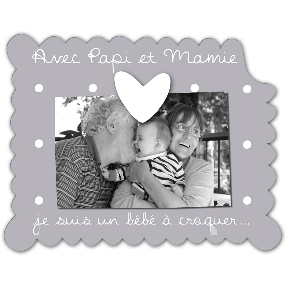 Cadre photo b b poser avec papi et mamie de titoutam - Cadre avec prenom bebe ...