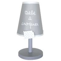 Lampe de chevet bébé à croquer gris