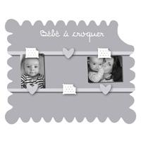 Pêle-mêle bébé 6 vues biscuit bébé à croquer gris