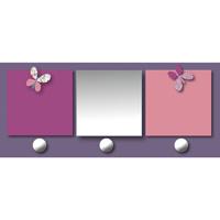 Patère chambre bébé avec miroir et porte-photos prunelle mademoiselle