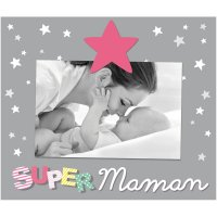 Cadre photo bébé à poser super maman