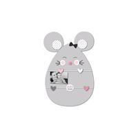 Pele-mêle bébé 5 vues souris gris