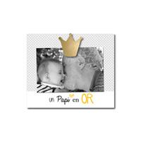 Cadre photo bébé à poser un papi en or