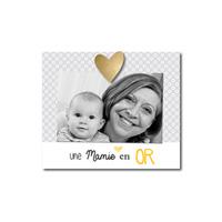 Cadre photo bébé à poser une mamie en or