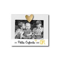 Cadre photo bébé à poser des petits enfants en or