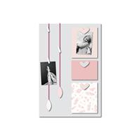 Pêle-mêle bébé 6 vues vent de plumes rose et gris
