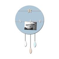Pêle-mêle bébé 4 vues vent de plumes bleu et gris