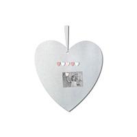 Pêle-mêle bébé coeur magnétique princesse et mademoiselle +6 magnets