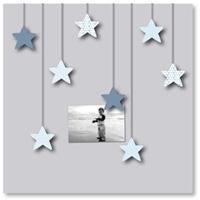 Pêle-mêle bébé 8 vues des étoiles plein les yeux bleues