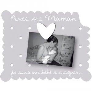 Cadre photo b b poser avec ma marraine gris de titoutam - Cadre avec prenom bebe ...