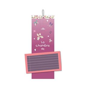 Décoration de porte personnalisable prunelle et mademoiselle