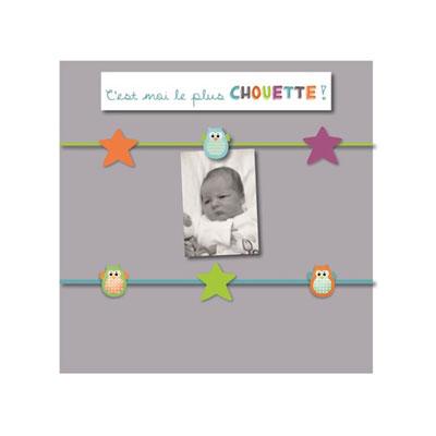 Pêle-mêle bébé 6 vues chouette gris Titoutam