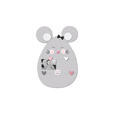 Pele-mêle bébé 5 vues souris gris Titoutam