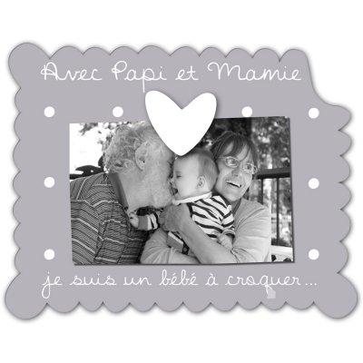 Cadre photo bébé à poser avec papi et mamie Titoutam