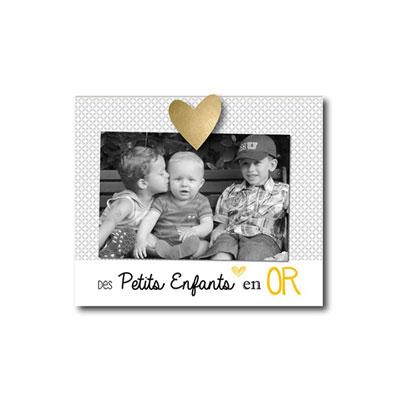 Cadre photo bébé à poser des petits enfants en or Titoutam