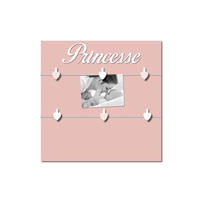 Pêle-mêle bébé 6 vues princesse et mademoiselle rose boudoir Titoutam