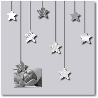 Pêle-mêle bébé 8 vues des étoiles plein les yeux gris Titoutam