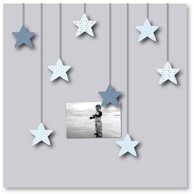 Pêle-mêle bébé 8 vues des étoiles plein les yeux bleues Titoutam