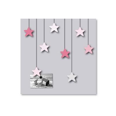 Pêle-mêle bébé 8 vues des étoiles plein les yeux roses Titoutam