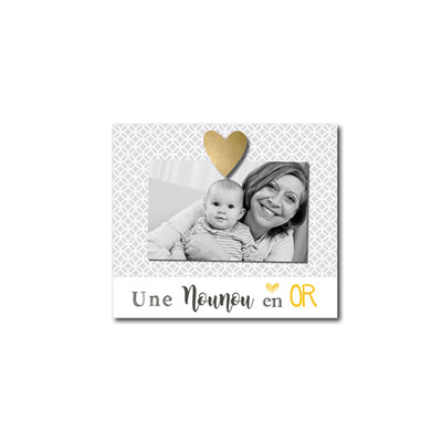 Cadre photo bébé à poser une nounou en or Titoutam
