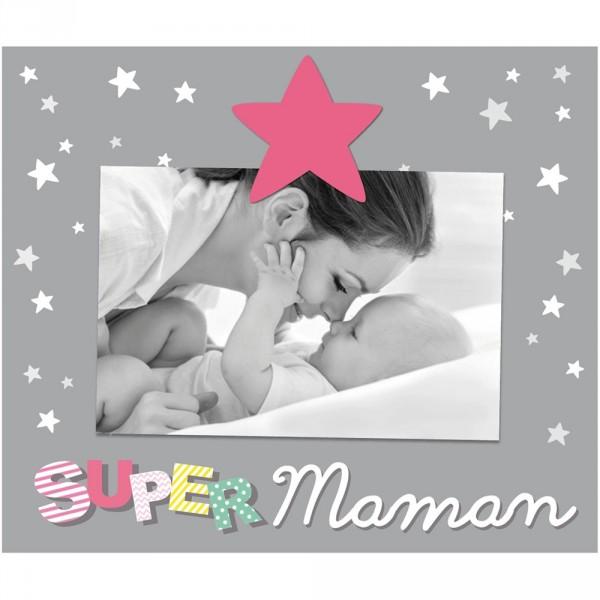 Cadre photo bébé à poser super maman Titoutam