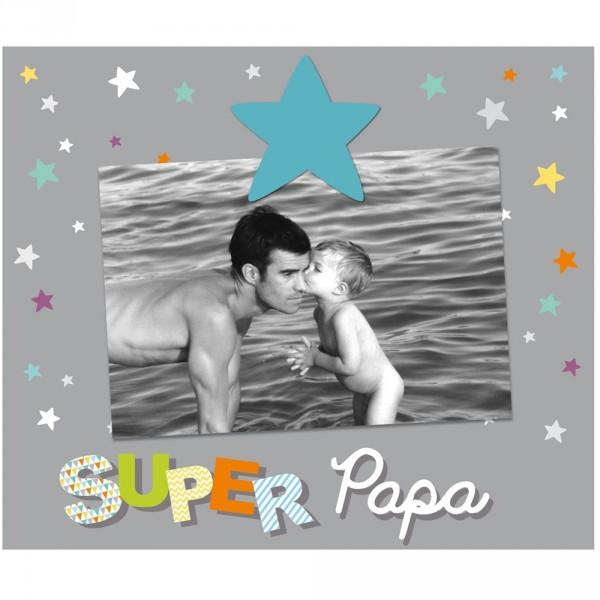 Cadre photo bébé à poser super papa Titoutam