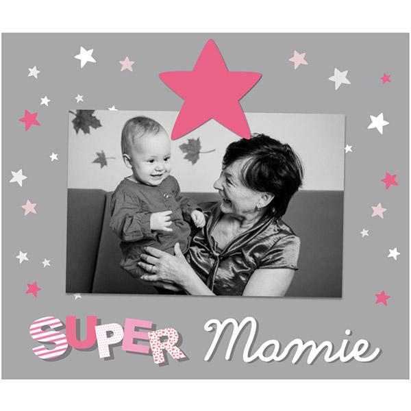 Cadre photo bébé à poser super mamie Titoutam