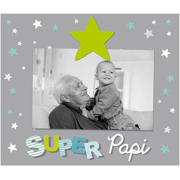 Cadre photo bébé à poser super papi Titoutam